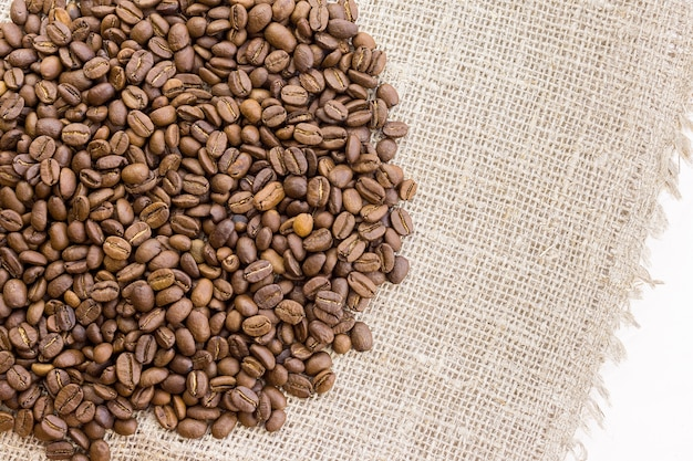 Coffee on burlap