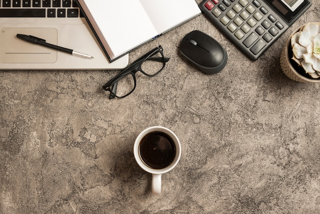 Coffee and business elements