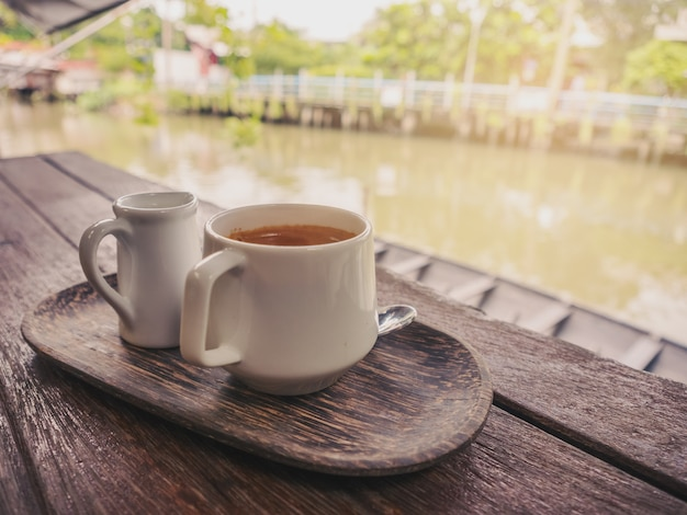 Coffee by the canal
