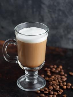 Coffee cocktail on a dark background