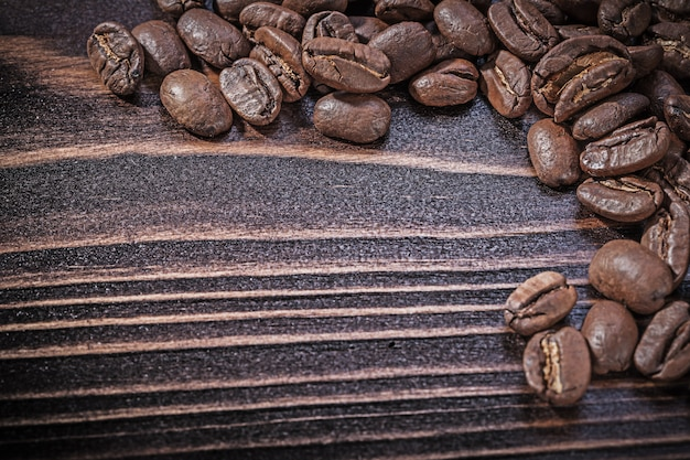 Coffee crops on vintage wooden board