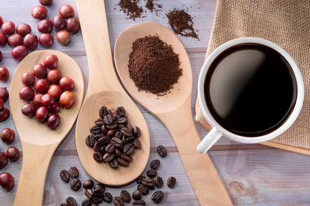 Coffee cup and coffee cherry