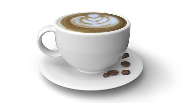 白い背景で隔離のコーヒーカップ