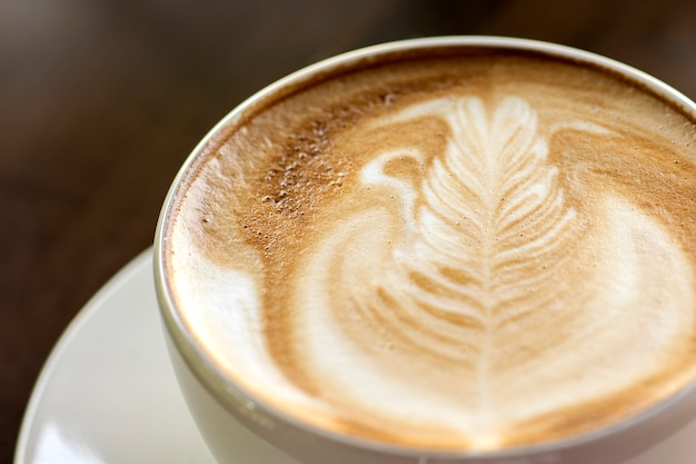 Coffee cup latte