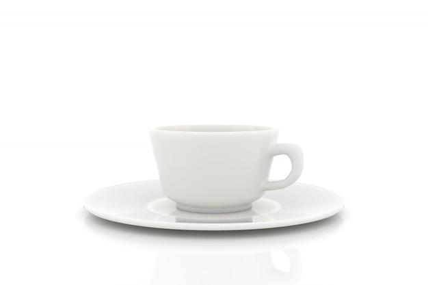 Coffee cup on plate ceramic design