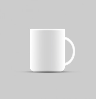 Coffee cup product design mock up design on white