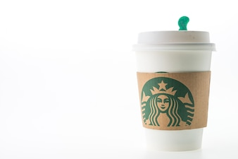 Coffee cup with cardboard protection
