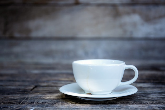 Coffee cup with wall background.
