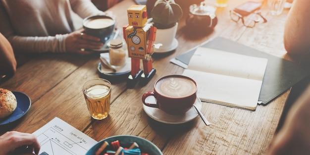 コーヒー飲料飲み物うれしそうなレジャー休憩レジャーコンセプト