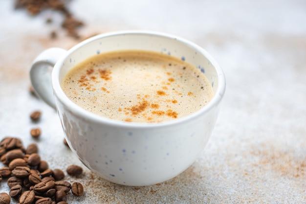 Кофейный напиток капучино или фраппе горячий свежий перерыв