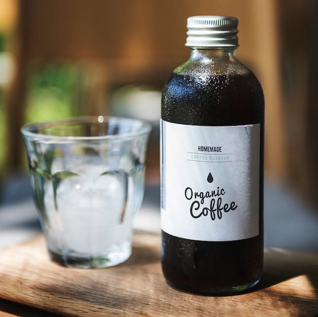Coffee drink glass bottle