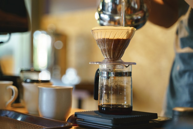Coffee drip process