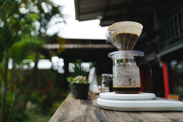 Coffee drip process