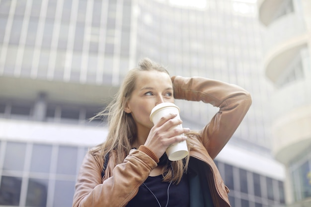 Coffee to go in the city