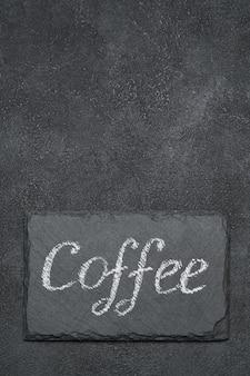 Знак кофе рукописные надписи на доске мелом