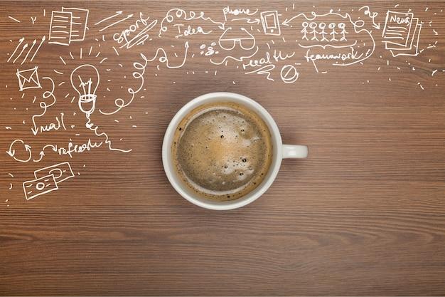 Кофе в чашке и бизнес-формулы