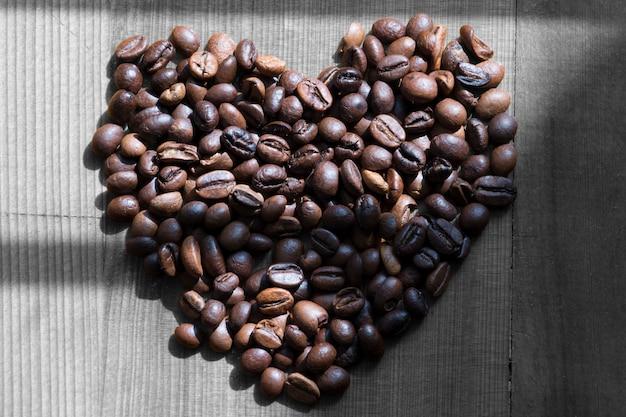ハートの形のコーヒー