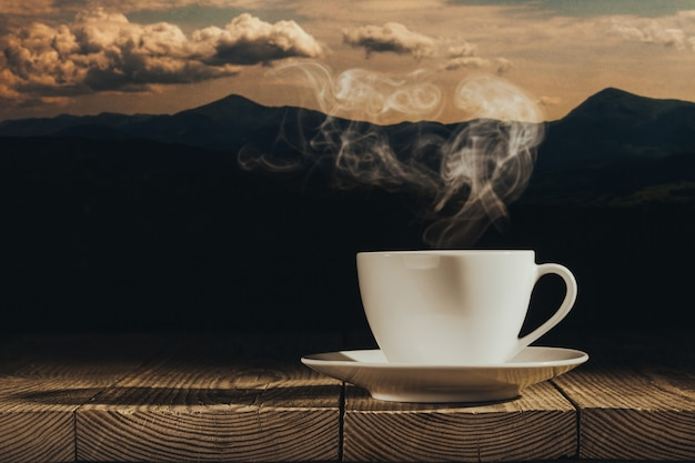 Coffee is not a wooden window sill
