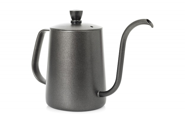 Coffee kettle isolated. tea kettle with handle.