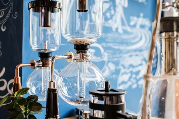 드립 양조 커피 만들기 개념