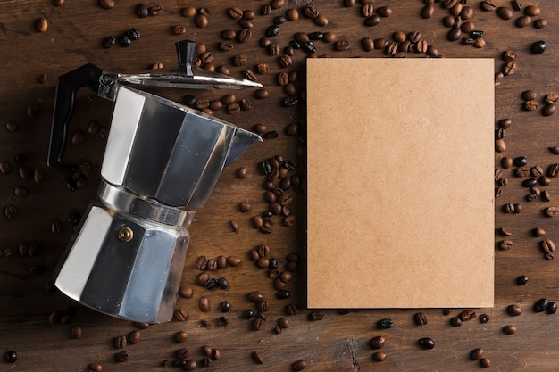 Coffee maker and package near beans