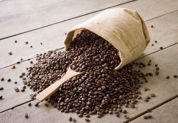Legno paletta tessile caffè del mattino