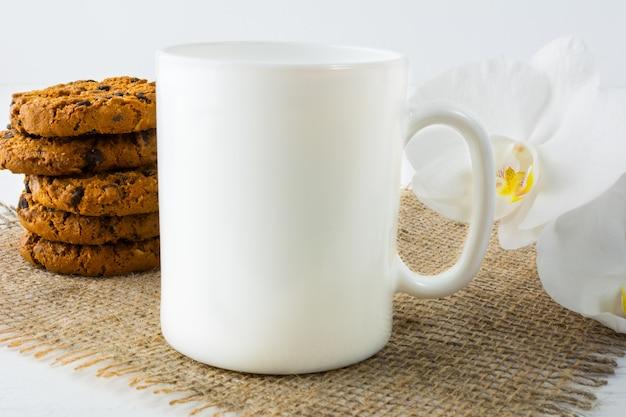 Coffee mug  with cookies