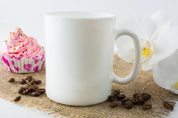 Coffee mug  with muffin