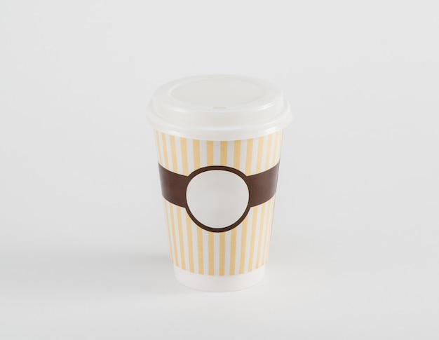 Coffee paper cup in takeaway  isolated on white background