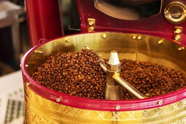 Машина для обжарки кофе, селективный фокус