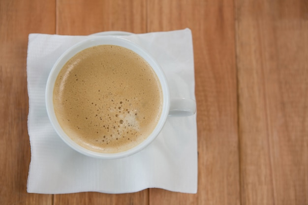 Coffee served with tissue paper