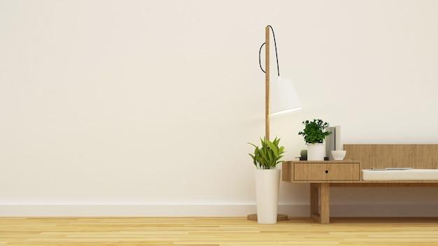 Coffee shop or living room minimal design - 3d rendering