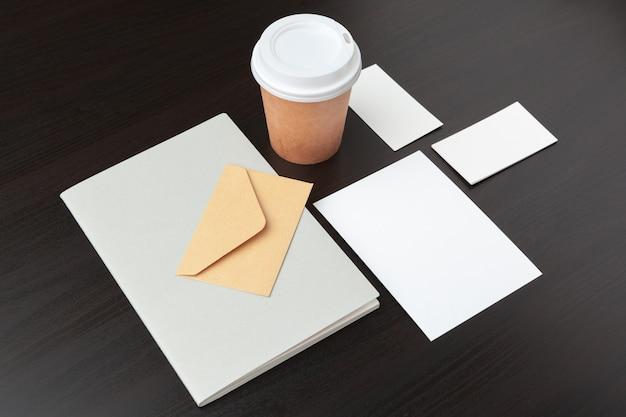 Coffee stationery, branding , with clipping path