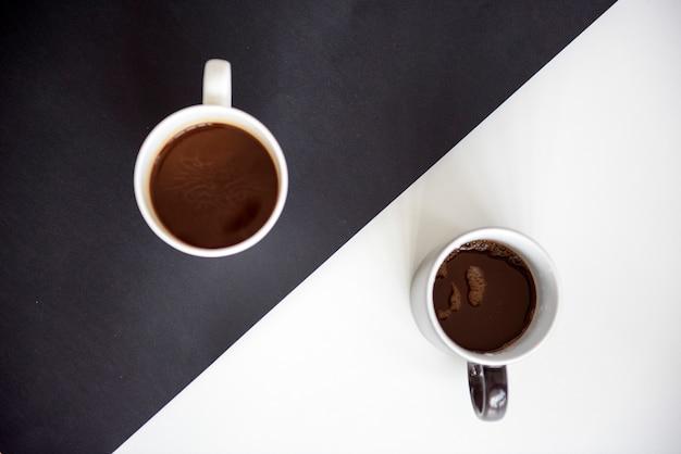 Coffee tea beverage black white