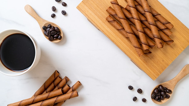 Coffee wafer stick