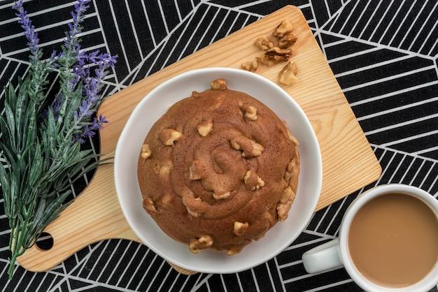 Кофе грецкий ореховый хлеб с кофе