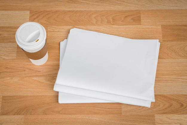 Coffee with envelopes next