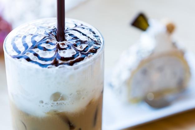 휘핑 크림 커피