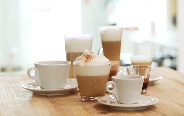 Coffees on a table