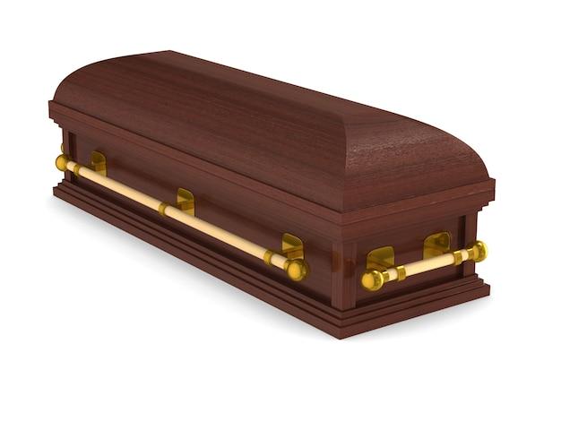 Гроб. изолированный 3d-рендеринг