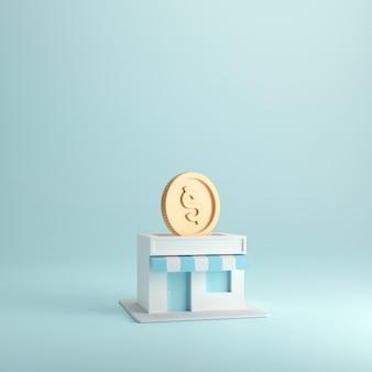 상점에서 동전, 프랜차이즈 사업으로 돈을 버십시오.