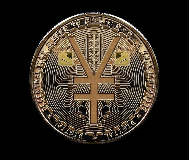 Монета, отчеканенная из золота, в честь появления электронного юаня, цифровой версии юаня.