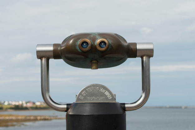 Coin-operated binoculars at norris point, rocky harbor, gros morne national park, newfoundland and l