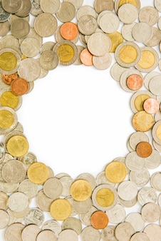 Coins as frame isolated