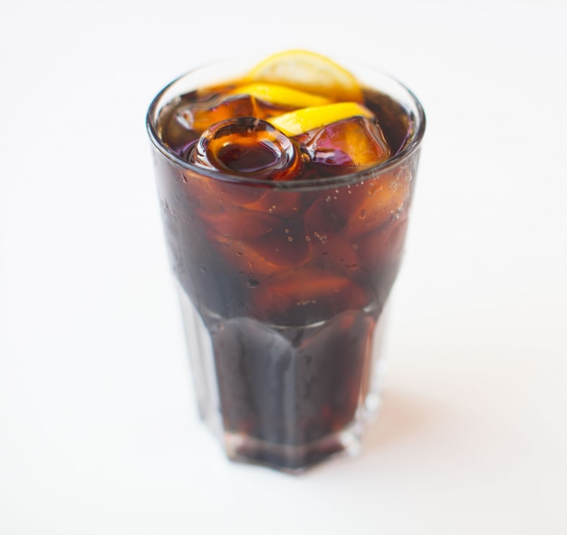 Cold caffeine droplet flow fresh american