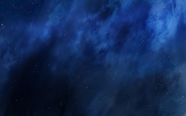 Cold and dark space nebula.