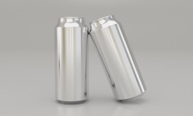 Cold drinks in metal tins latas