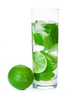 Cold fresh lemonade. isolated