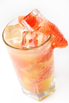 Cold grapefruit juice