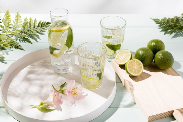 Cold lime drink